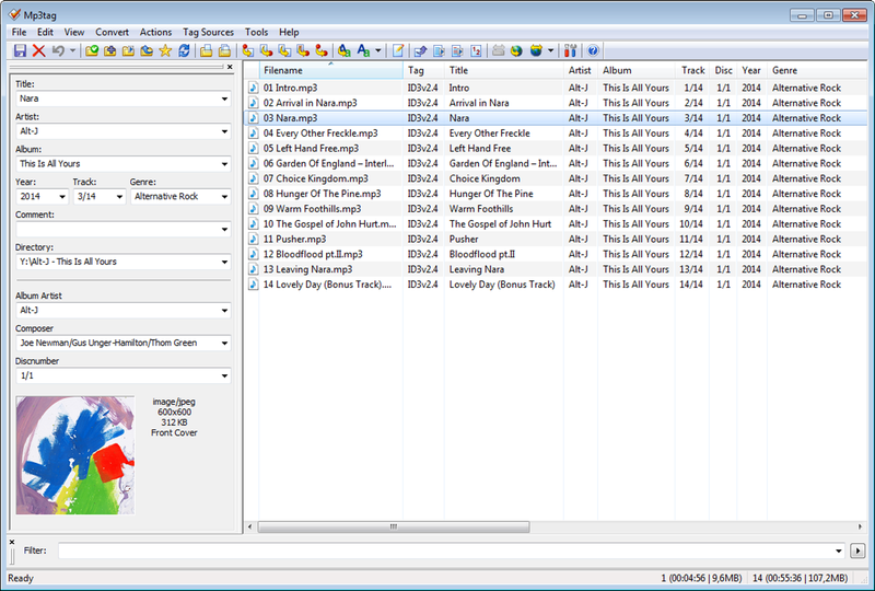Mp3tag freeware screenshot