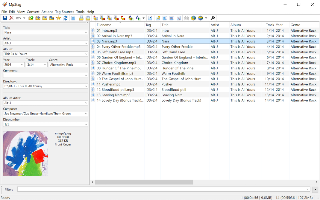 Mp3tag - the universal Tag Editor (ID3v2, MP4, OGG, FLAC, ...)